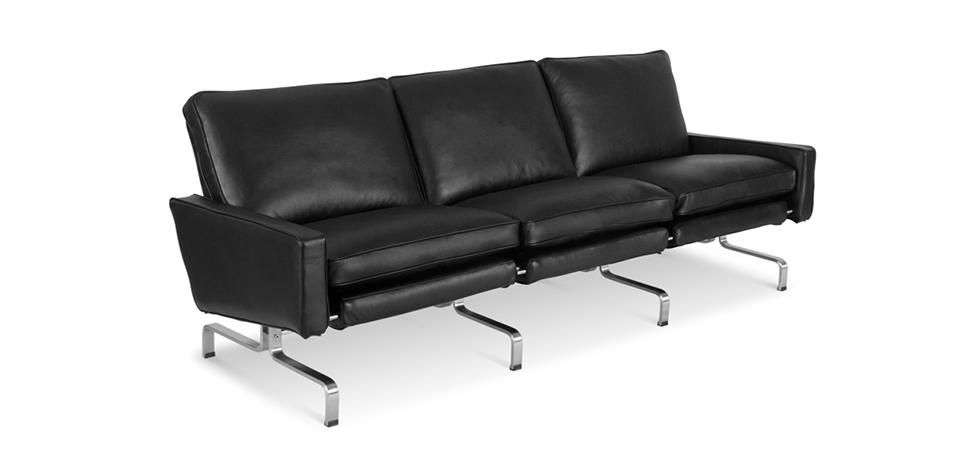 sof de dise o py31 3 asientos cuero de imitaci n